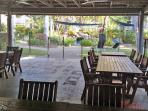 RESORT: Outdoor seating area near BBQs - socialise with other guests and residents.