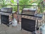 RESORT: BBQs for use by all resort guests and residents.