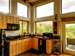Countertop oven- Panoramic views from the kitchen and living area- see other photos for better light