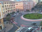 Piazza San Benedetto vista dal salotto di casa