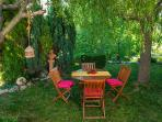 Beautiful garden and relaxation spot in the shade