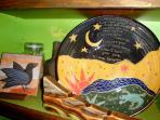 Hand-made, one-of-a-kind pottery and art.