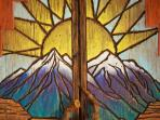 Rocky Mountains, desert mesas & abundant sunshine!  Our hand-carved & painted furniture says it all.