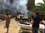 Typical BBQ scene at the old mill 100 metres from the property