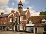The Town Hall is listed, a lovely building with lots going on