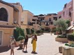 The main road of Porto Cervo 'La Passeggiata' is just 50m from the apartment