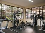 A well equipped, well maintained gymnasium for after-hours physical fitness.