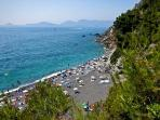 Punta Corvo beach. A 1 hour walk from Ameglia. You can also go by ferry boat from Fiumaretta.
