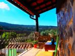 Our terrace, perfect for unwinding with mountain scenery