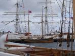 Norwegian vessels moored in Lerwick harbour