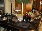 Owners Lounge. Wine selection