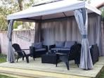 New for 2016, outdoor living area. Ideal for the aperitif!