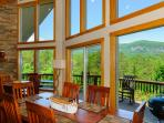 Enjoy dining with mountain views.