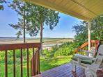 Enjoy expansive views of Puget Sound from your private covered deck in this charming vacation rental condo.