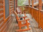 Wrap around porch is perfect for your morning coffee!