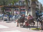 One of the many bars along the beach front of Lo Pagan