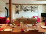 A convivial dining area