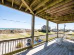 Lower level deck is a great place for shade, ocean views and relaxing.