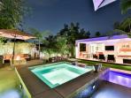 Night pool side