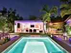 Night pool photo