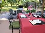 Outdoor dining and patio.