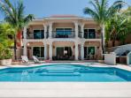 Private pool, covered porches and terraces