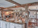 Prepare tasty home-cooked meals in the abode's gigantic fully equipped kitchen