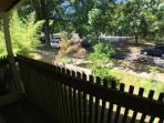 view of the street from front deck