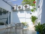 Terrace garden. Accessible through the living room balcony or master bedroom. Perfect for BBQ party,