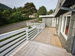 Large ocean view entry deck