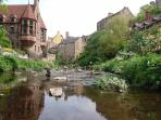 Standing stones in the Water of Leith