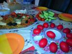 Easter foods so often seen in the village at festival times