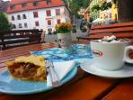 or a nice cake and some hot chocolate in the old citadel square in Sighisoara