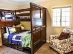 Bedroom #4 Full over Full Bunks