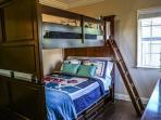 Bedroom #2 Full over Full Bunks