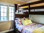 Bedroom #3 Full over Full Bunks