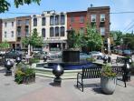 Passyunk Square Fountain - The beginning of this restaurant mecca - seven blocks away