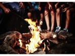 Build a camp fire around the fire pit and enjoy smores!