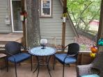 Eat outside in the screened gazebo!