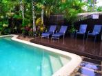Private pool & Deck chairs