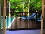 Private pool & deck area