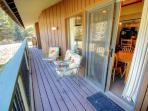 Mile-o-deck - The deck extends from one end of the condo to the other with 3 doors to access it from the living room...