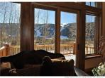 Living room view - Spectacular views, 20 ft vaulted cielings, comfortable furniture and plenty of space by the...