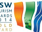One of Waterfront's many tourism awards. GOLD NSW Tourism Awards.