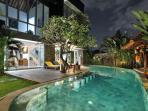 Villa Turkuaz is 5 star in the heart of upmarket Seminyak, 4 bedrooms, dual massage room, 3 staff