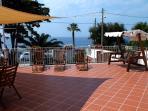 Terrazza di villa sul mare, area relax