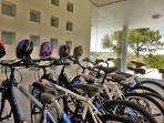 12 bikes at clients disposal