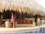 Pool and palapa.