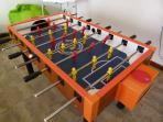 Table Football in the Games Room. Lots of family activities