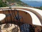 The Bar Area overlooking the Mediterranean Sea.